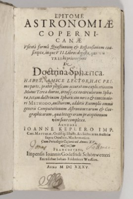 KEPLER, Johannes. Epitome Astr
