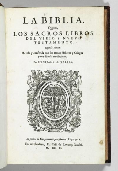 [BIBLE -- SPANISH]. La Biblia.