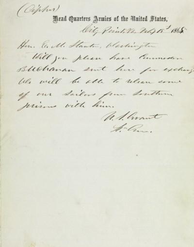 [CIVIL WAR]. GRANT, Ulysses S.