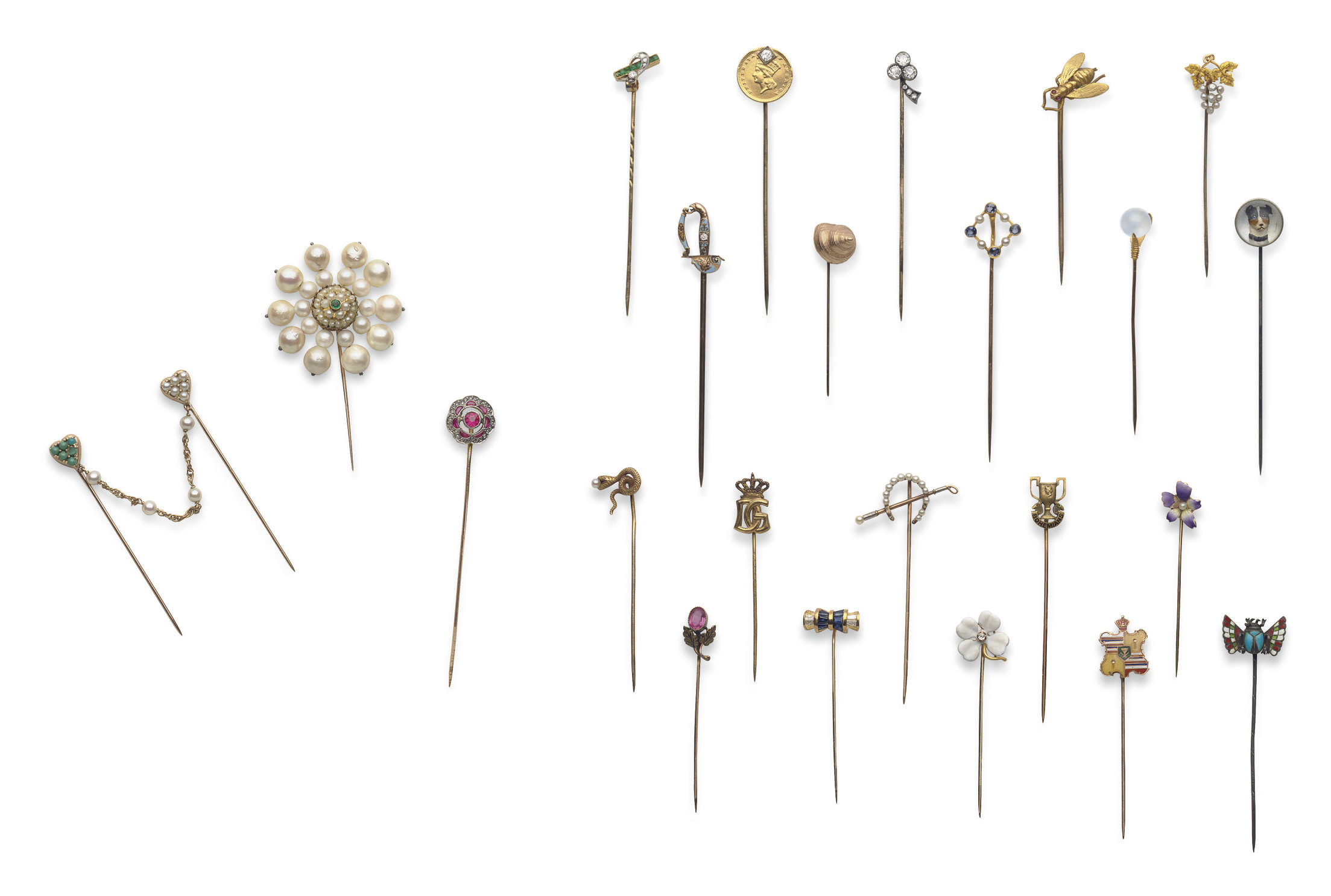 **A GROUP OF STICK PINS