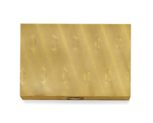 A GOLD VANITY CASE, BY BULGARI