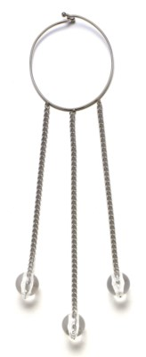 A NICKEL-PLATED COLLAR AND THR