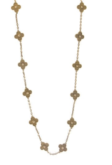 AN 18K GOLD 'ALHAMBRA' NECKLAC