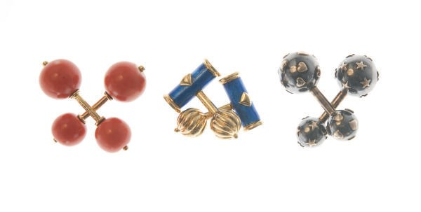 **A GROUP OF CUFFLINKS, BY JEA