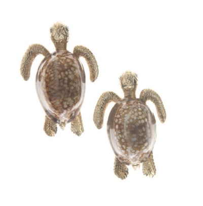A PAIR OF DIAMOND, SHELL AND G