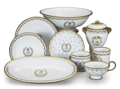 A GROUP OF FRENCH PORCELAIN TA