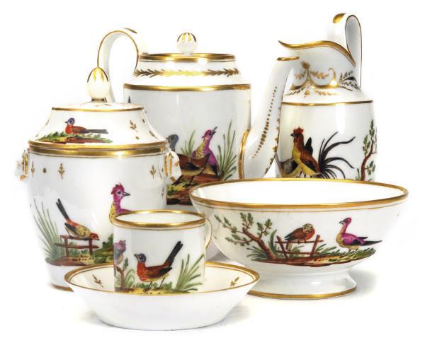 A PARIS PORCELAIN PART TEA AND