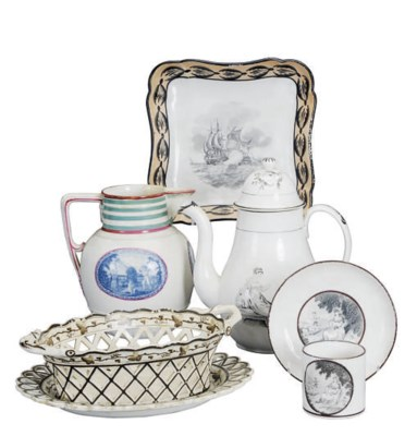 A GROUP OF ENGLISH POTTERY DES