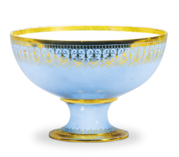 A FRENCH PORCELAIN SKY-BLUE GR