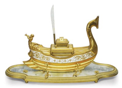 A SEVRES-STYLE PORCELAIN GALLE