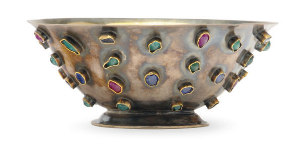 AN AMERICAN SILVER BOWL INSET