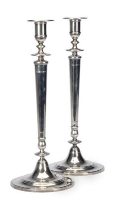A LARGE PAIR OF AMERICAN SILVE