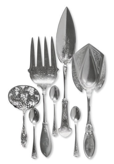 A GROUP OF AMERICAN SILVER DES