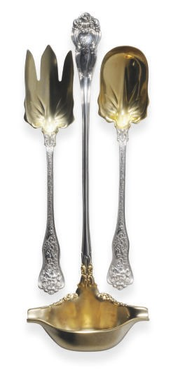 A PAIR OF AMERICAN SILVER-GILT