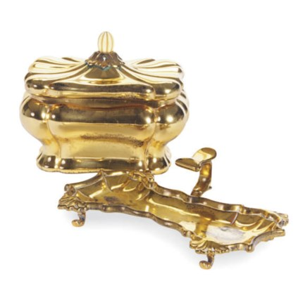 A GEORGE II SILVER-GILT CANDLE