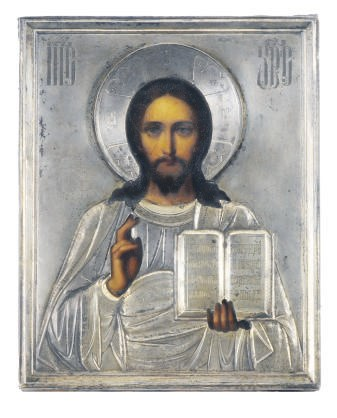 A RUSSIAN ICON OF CHRIST PANTO