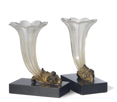 A PAIR OF CONTINENTAL GLASS TR