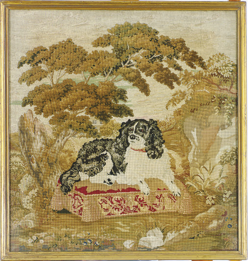 AN ENGLISH NEEDLEWORK OF A SPA