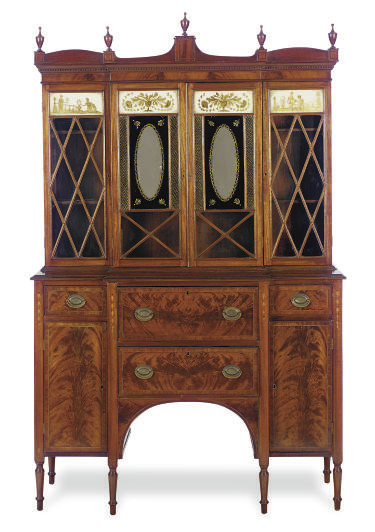 AN AMERICAN MAHOGANY AND VERRE
