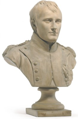 A FRENCH TERRACOTTA BUST OF NA