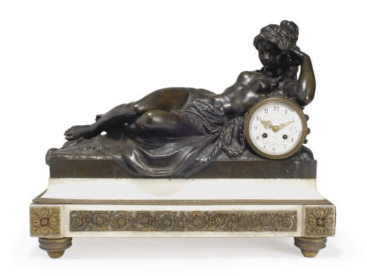 A FRENCH ORMOLU-MOUNTED MARBLE