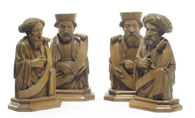 FOUR NORTH EUROPEAN OAK FIGURE