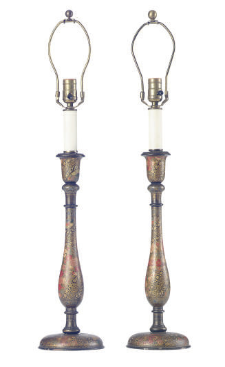 A PAIR OF VICTORIAN EBONIZED A