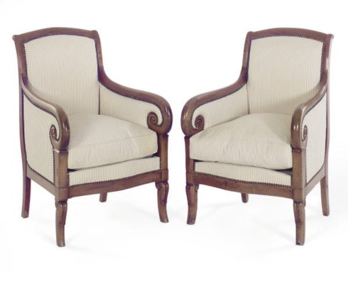 A PAIR OF LOUIS PHILIPPE MAHOG