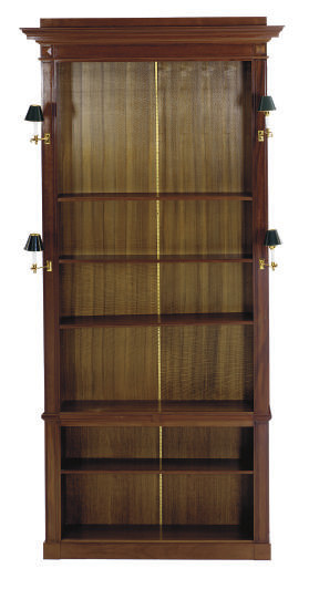 A MAHOGANY AND BRASS-MOUNTED F