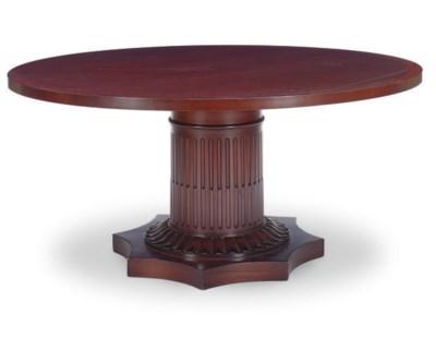 A MAHOGANY DINING TABLE,