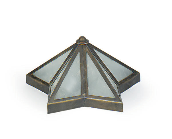 A METAL AND GLASS STAR-FORM CE