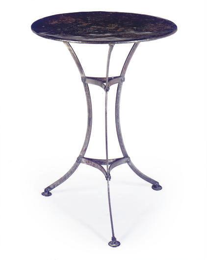 A CIRCULAR STEEL CAMPAIGN TABL