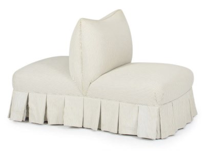 A DOUBLE-SIDE UPHOLSTERED POUF