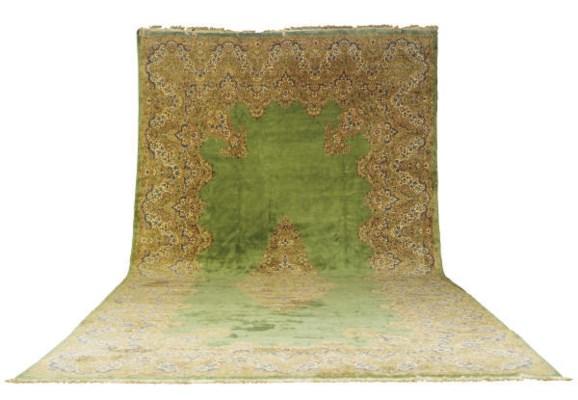 A KIRMAN CARPET,