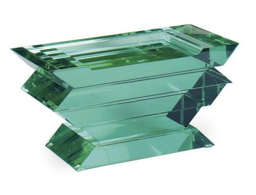 A GLASS STOOL,