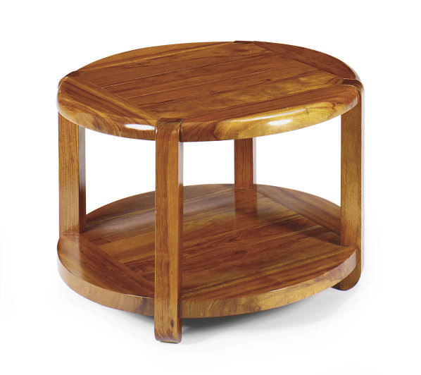 A MAHOGANY CIRCULAR SIDE TABLE