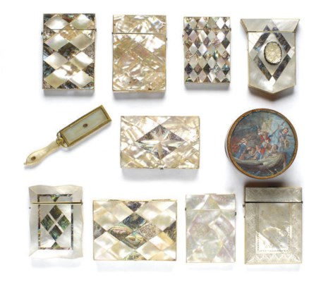 NINE VICTORIAN MOTHER-OF-PEARL