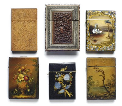 SIX CONTINENTAL CARD CASES**,