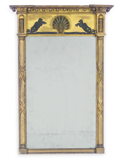 A GILTWOOD AND PART-EBONIZED P