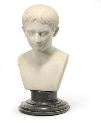 A FRENCH MARBLE BUST OF NAPOLE