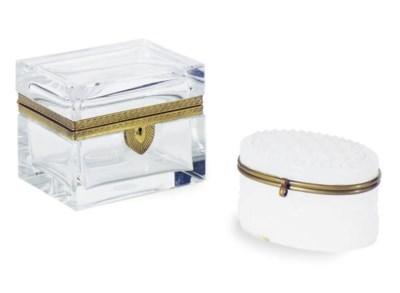 TWO GILT-METAL MOUNTED GLASS B