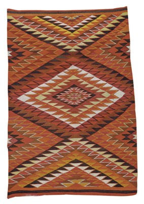 A GROUP OF FIVE FLATWOVEN RUGS