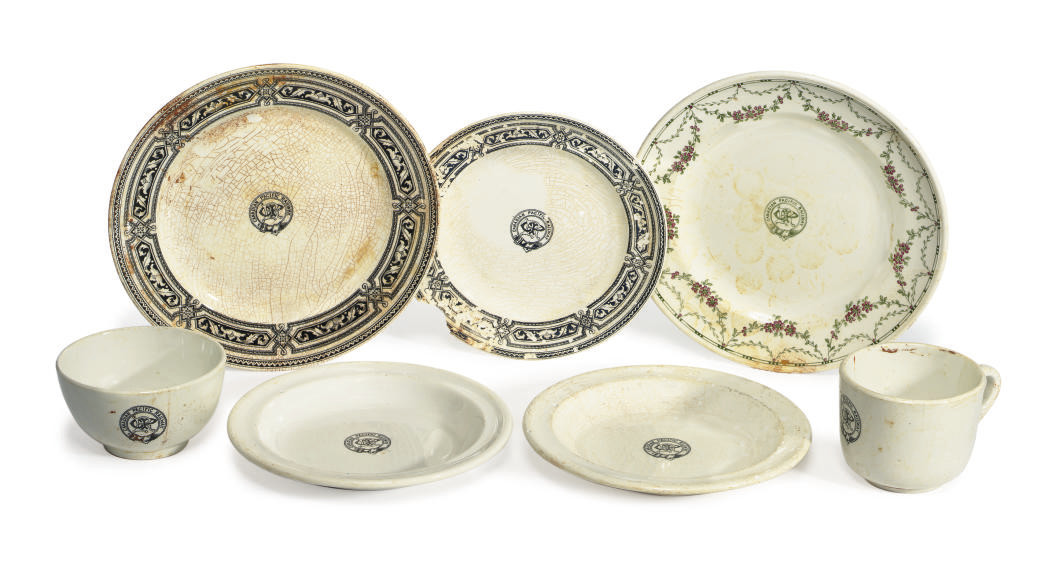 A collection of china recovere
