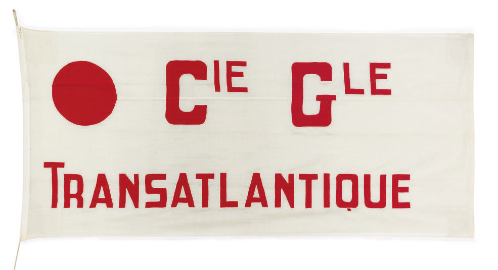 A large cotton company pennant
