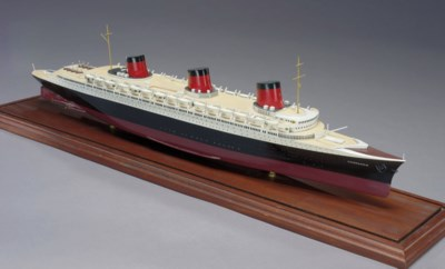 A model of the S.S. Normandie