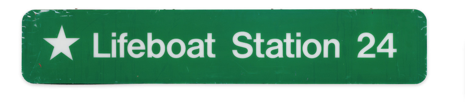 A sign for life Boat Station 2