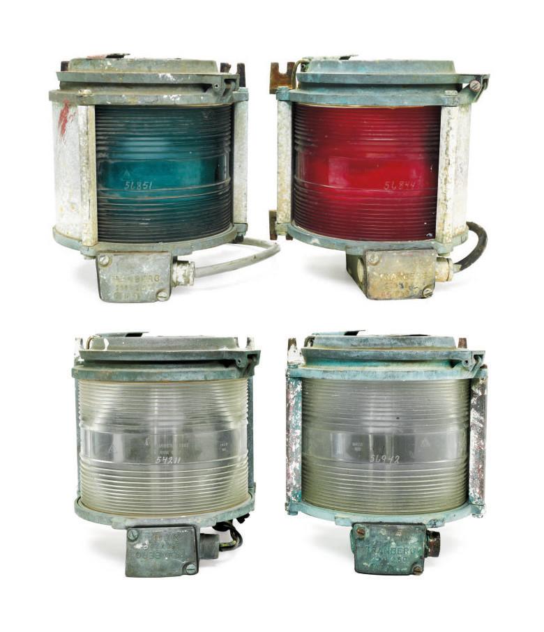 A set of four running lights f