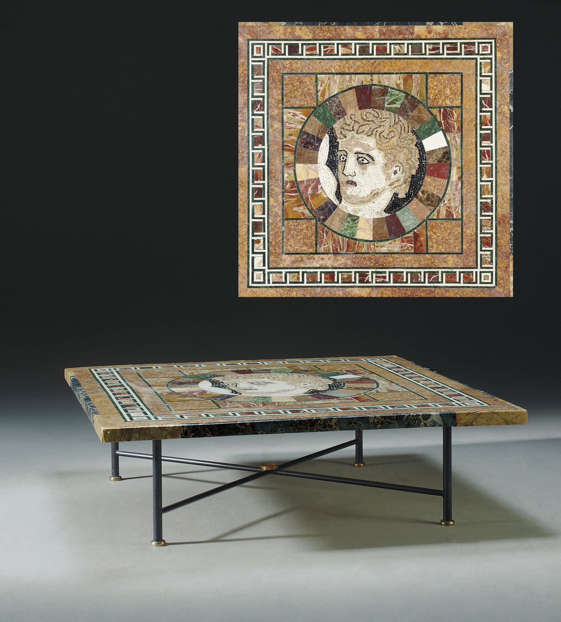 A SPECIMEN MARBLE AND MOSAIC L
