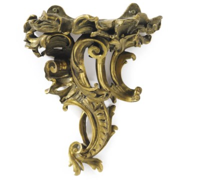 A FRENCH ORMOLU WALL BRACKET