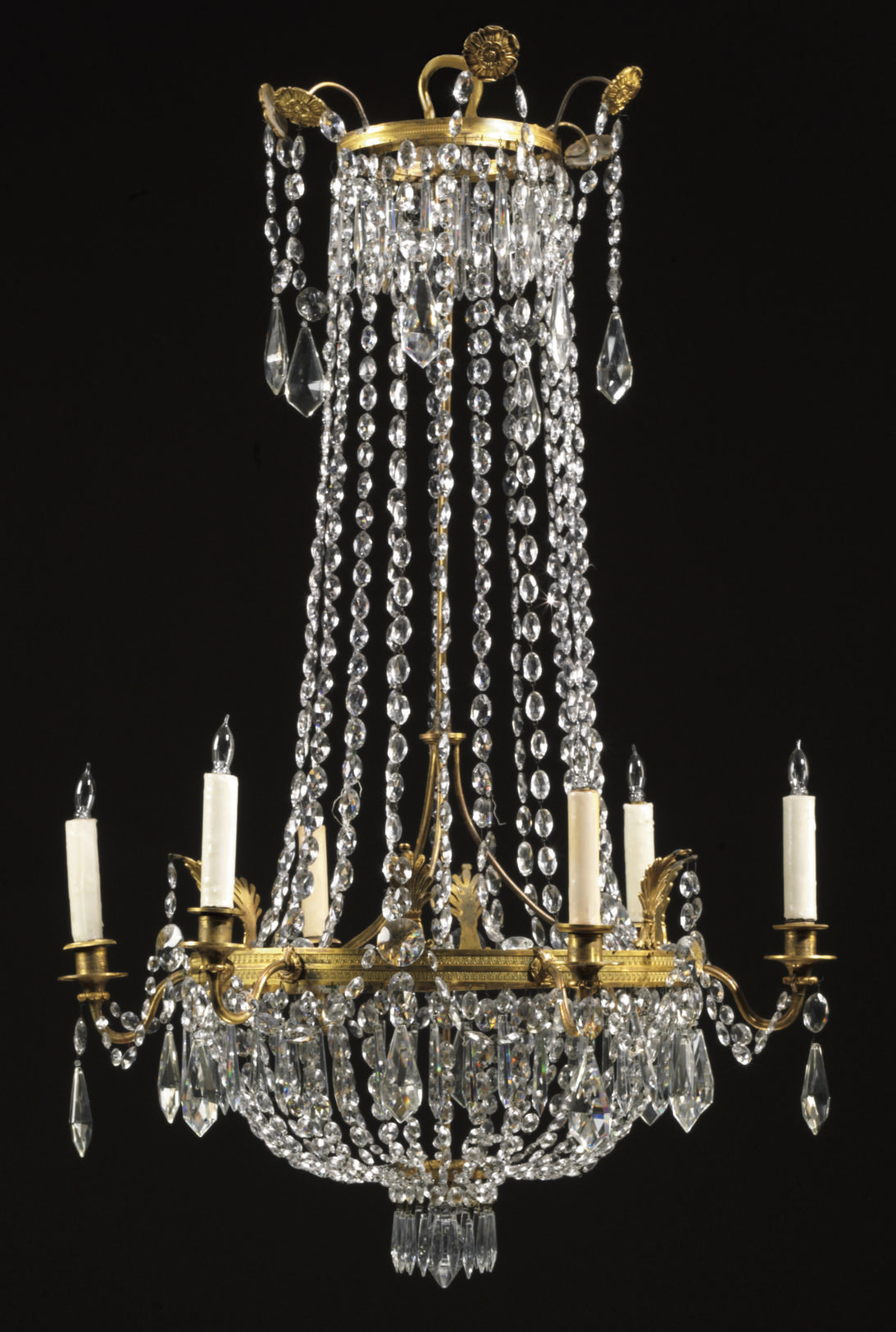 A SWEDISH CUT-GLASS AND ORMOLU